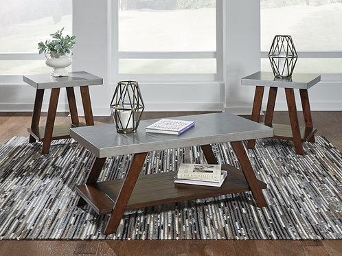 Bellenteen Silver & Brown 3-in-1 Table Set