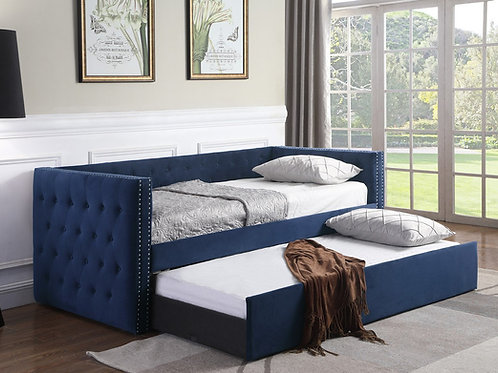 Trina Navy Upholstered Daybed