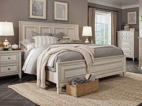 Raelynn Weathered White Queen Bed