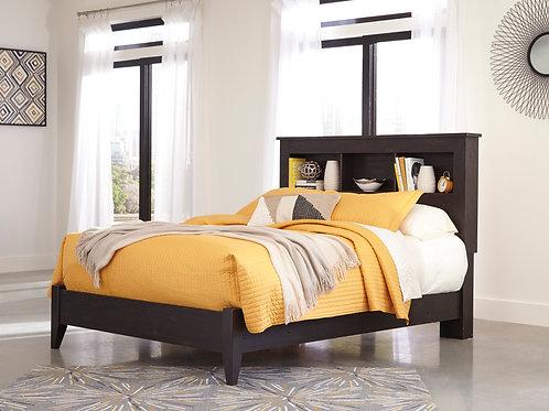 Reylow Dark Brown Bookcase Bed