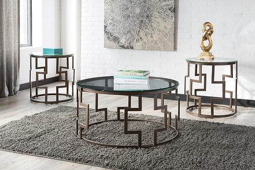 Frostine Dark Bronze 3-in-1 Table Set