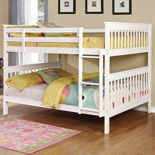 White Full/Full Bunk Bed