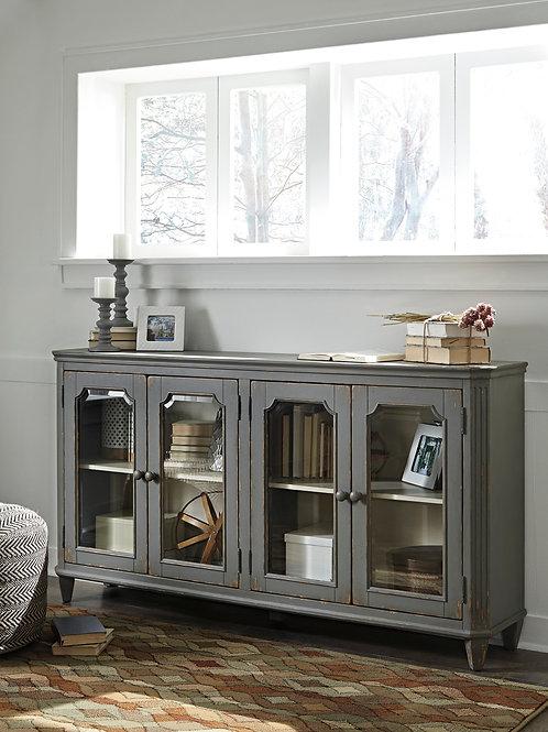 Mirimyn Distressed Gray Accent Cabinet