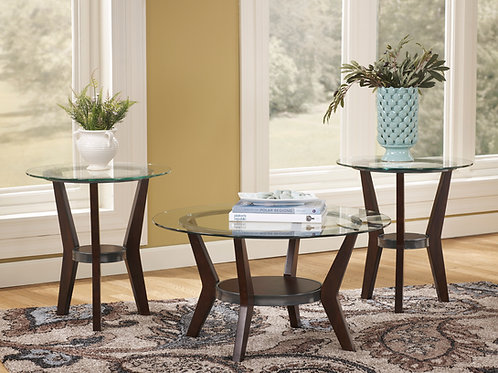 Fantell Dark Brown 3-in-1 Table Set