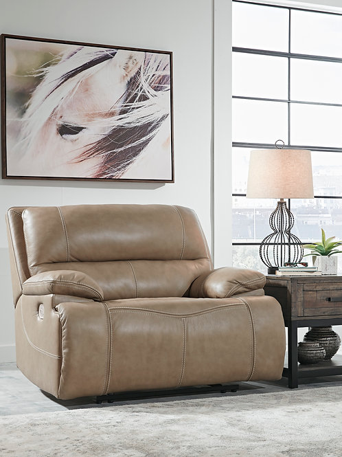 Ricmen Putty Leather Power Recliner