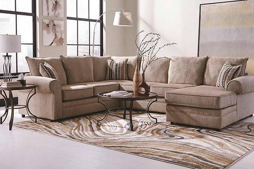 Fairhaven Cream Colored U-Shaped Sectional