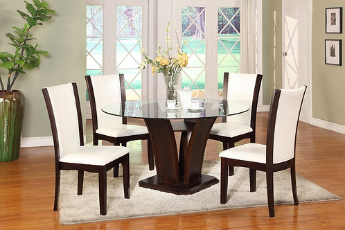 Camelia Table & 4 White Chairs