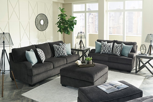 Charenton Charcoal Sofa & Loveseat