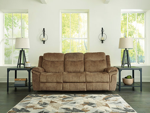 Huddle-Up Nutmeg Reclining Sofa with Drop Down Table