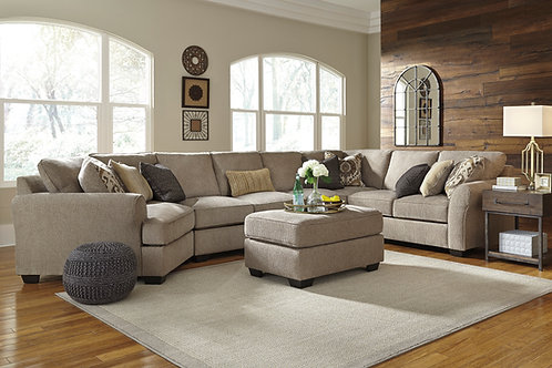 Pantomine Driftwood Large 4 PC Sectional with Cuddler