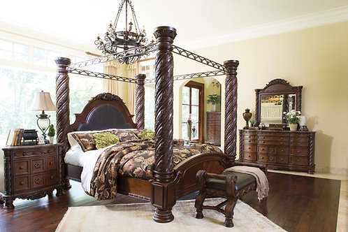 North Shore King Canopy Bedroom Set