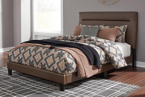 Adelloni Brown Upholstered Queen Platform Bed