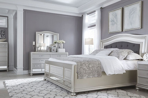 Coralayne Silver Panel Bedroom Set