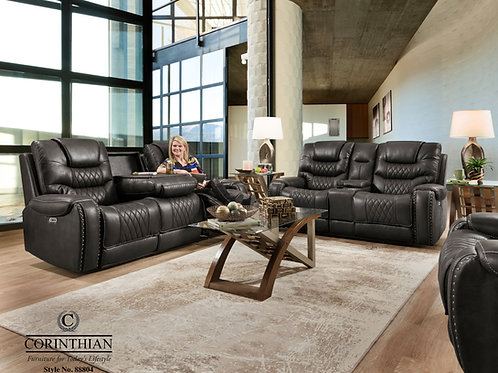 Bailey's Desert Black Reclining Sofa & Loveseat