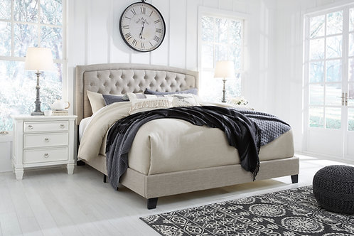 Jerary Heather Gray Upholstered Queen Bed