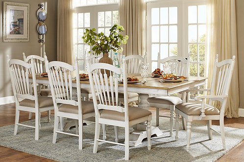 Hollyhock Dining Room Table & 6 Chairs