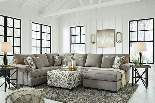 Renchen Pewter 3-Piece Sectional