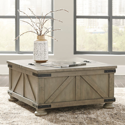 Aldwin Gray Storage Cocktail Table