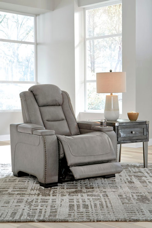 Man-Den Gray Power Recliner