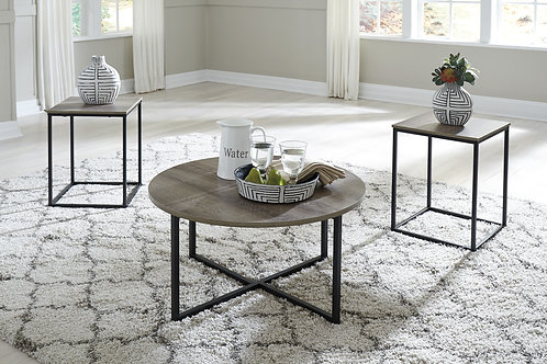 Wadeworth Two-Tone 3-in-1 Table Set