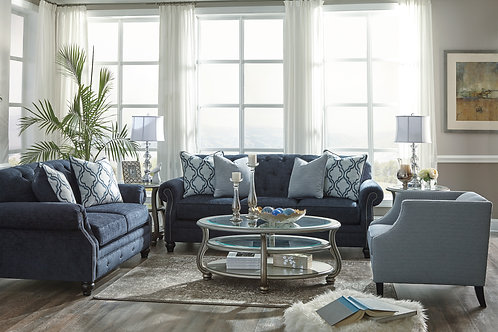 LaVernia Navy Sofa & Loveseat