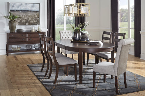 Adinton Dining Table, 4 Side Chairs, and 2 Upholstered Chairs