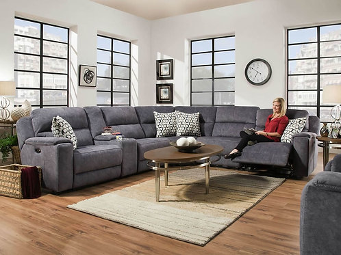 Imprint Steel Blue 6-Piece Sectional