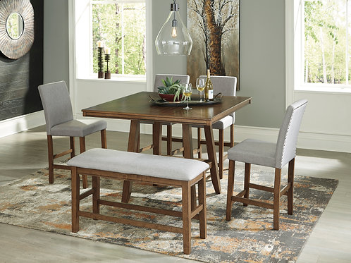 Glennox Table, 4 Chairs, & Bench