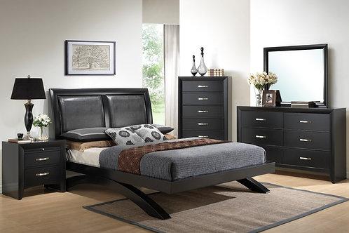 Galinda Black Bedroom Set