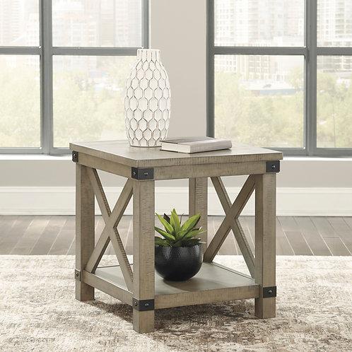 Aldwin Gray Rectangular End Table