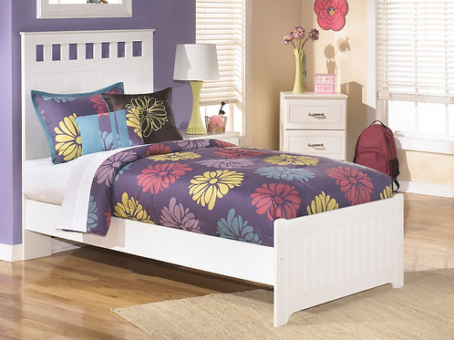 Lulu White Panel Youth Bed