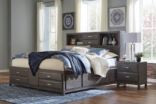 Caitbrook Gray Queen Storage Bed