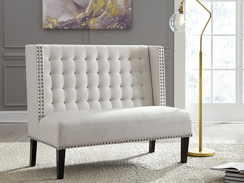 Beauland Ivory Wingback Accent Bench