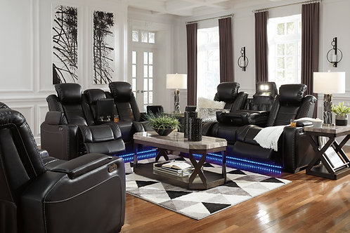 Party Time Midnight Power Reclining Sofa & Loveseat