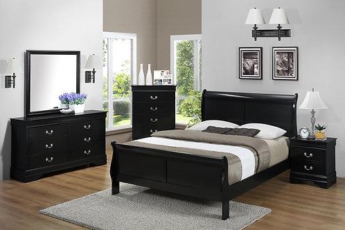 Louis Phillipe Black Bedroom Set