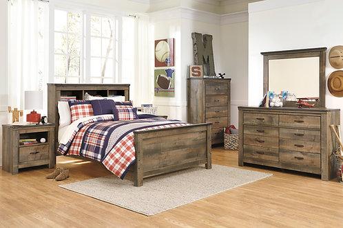 Trinell Twin or Full Bookcase Headboard Bedroom