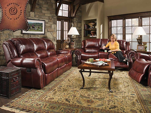 Alexander Oxblood Reclining Sofa & Loveseat