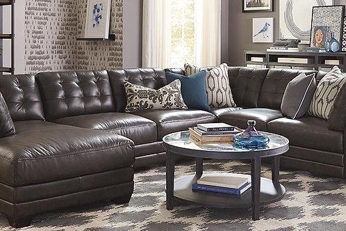 Bassett Leather Affinity U-Shaped Sectional