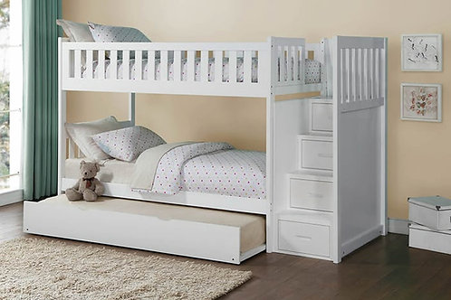 Galen Twin/Twin Staircase Bunk Bed