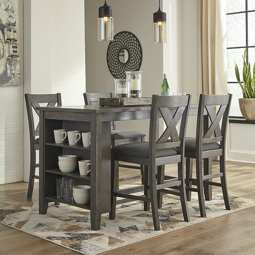 Caitbrook Counter Table & 4 Upholstered Barstools