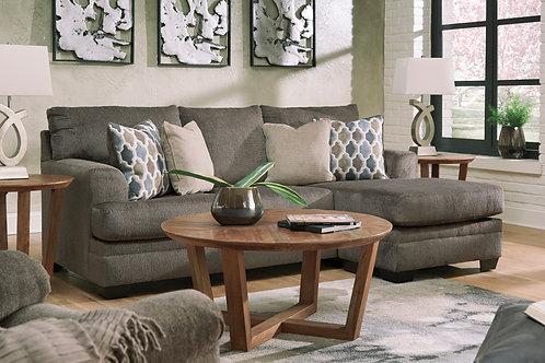 Dorsten Slate Sofa Chaise with Movable Ottoman