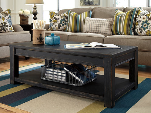 Gavelston Rustic Black Cocktail Table