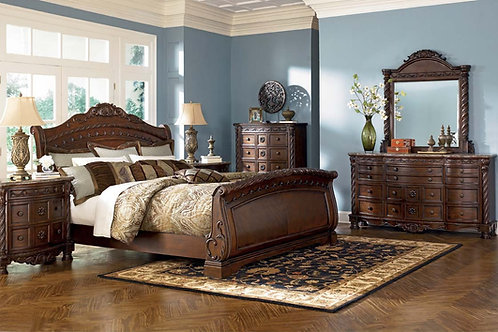 North Shore King Sleigh Bedroom Set