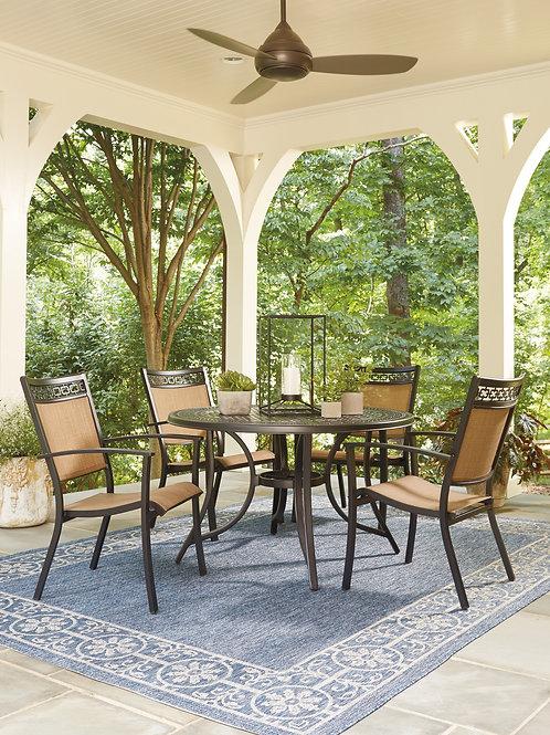 Burnella Lattice Round Table & 4 Chairs