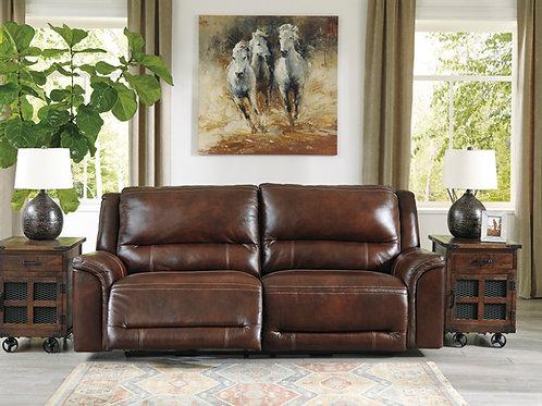 Catanzaro Mahogany Leather Power Reclining Sofa