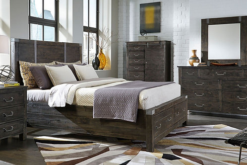 Abington Charcoal Rustic Storage Bed