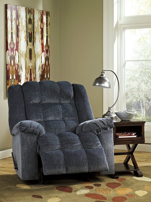 Ludden Navy Rocker Recliner