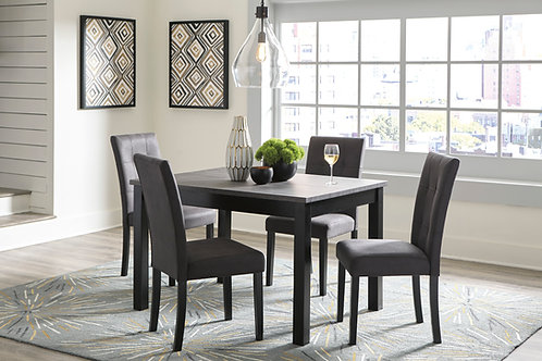 Garvine Two-Tone Dining Table & 4 Chairs
