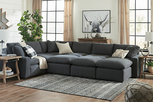 Savesto Charcoal Custom Sectional