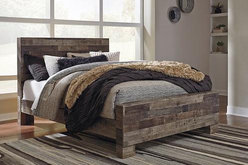 Derekson Multi-Gray Panel Bed